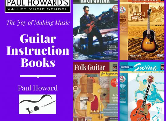Guitar Instruction Books Paul Howard. Beginner, Intermediate and Advanced. Rock, Jazz, Bluegrass, Swing Music.