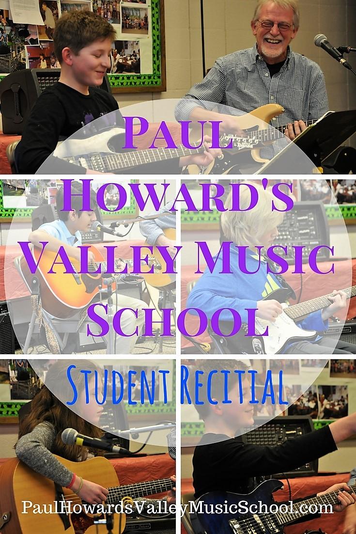 Paul Howard's Valley Music School Student Recital Jan 2018. Guitar Lessons, Electric guitar, Bass, Acoustic Guitar, Piano, Drums, Violin Lessons, Avon, Simsbury, Farmington, West Hartford, Canton